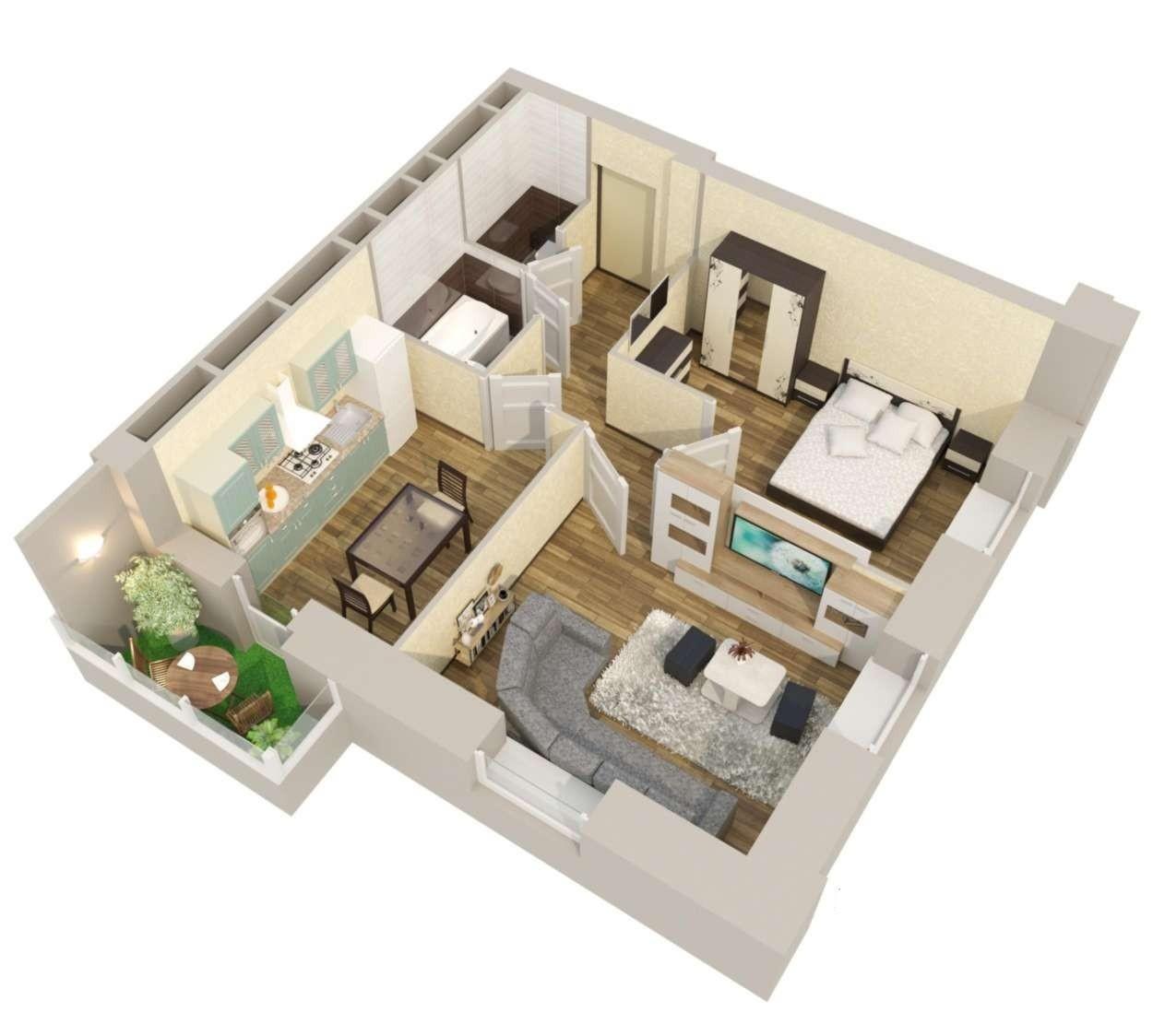 2 комнатная квартира в новостройке